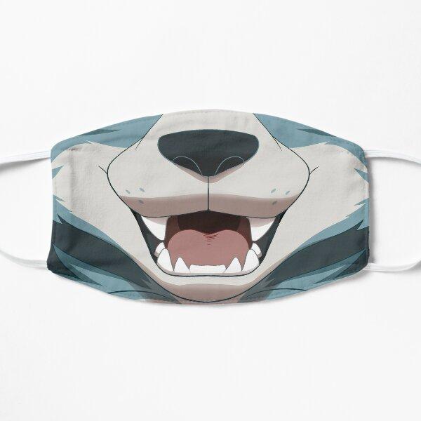 Bouche de loup gris Masque sans plis