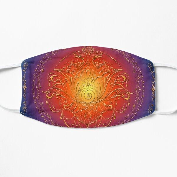 Lotus Goddess in blooming Rainbow Chakra Flat Mask