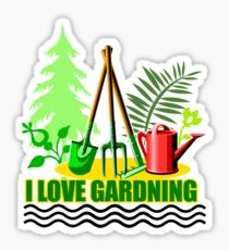 I Love Gardening Sticker