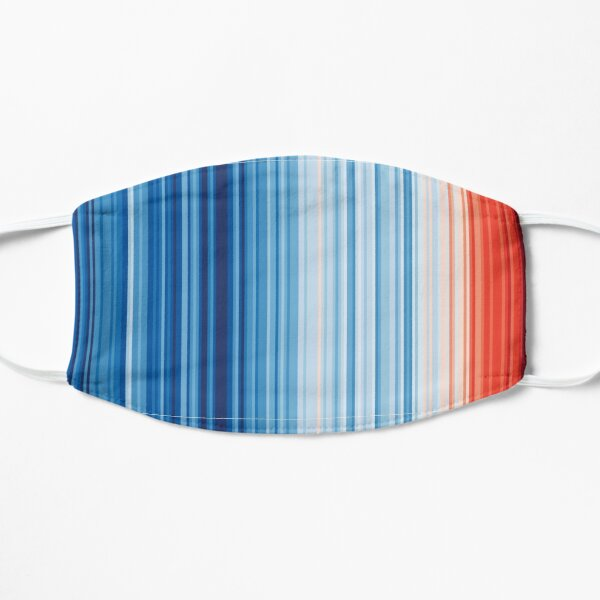 Earth's Climate Barcode Flat Mask