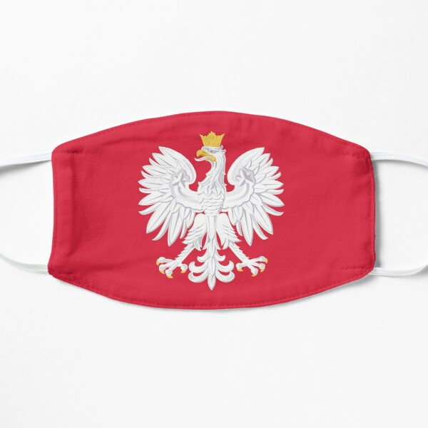 POLISH WHITE EAGLE | Poland Coat of Arms Red White Gold Flat Mask