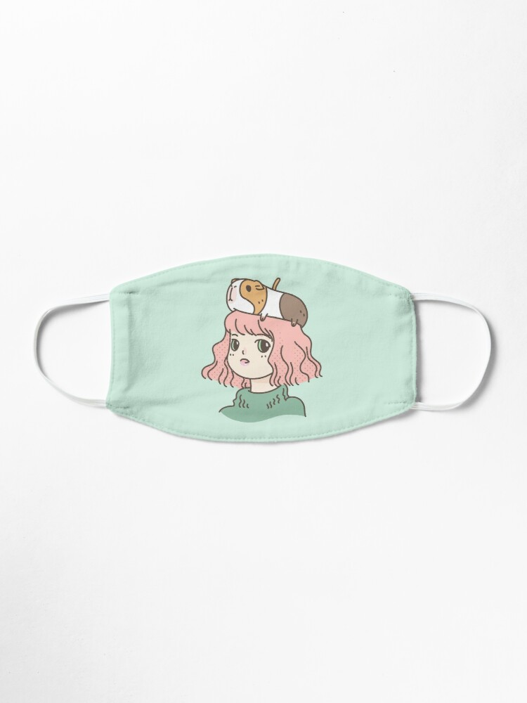 Alternate view of Guinea pig lady  Mask