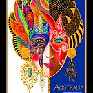 'Lady Australia', Titled Greeting Card or Small Print by luvapples downunder/ Norval Arbogast