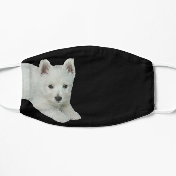 West Highland White Terrier Puppy 3 Flat Mask