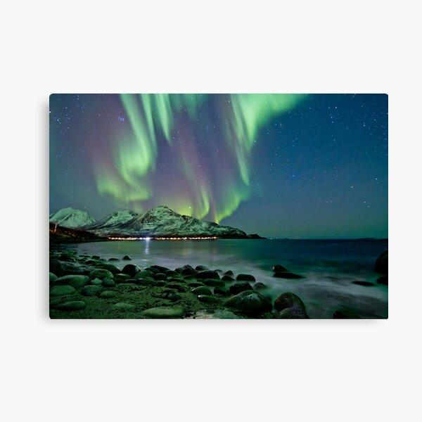 Aurora Borealis at Tromvik Canvas Print