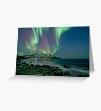 Aurora Borealis at Tromvik Greeting Card