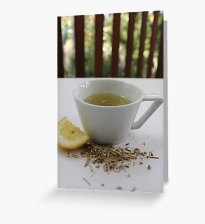 Lemongrass Tea and Lemon Slice Greeting Card