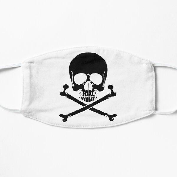 Black Skull and crossbones Flat Mask