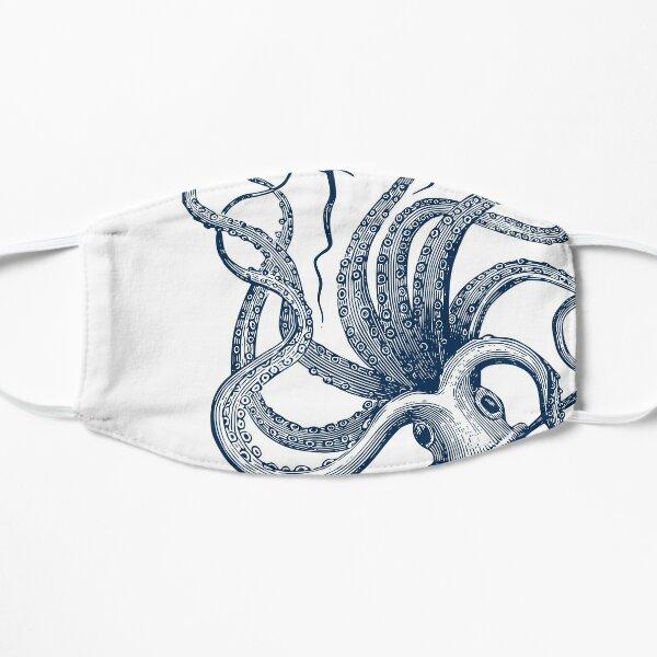 Navy Octopus Flat Mask
