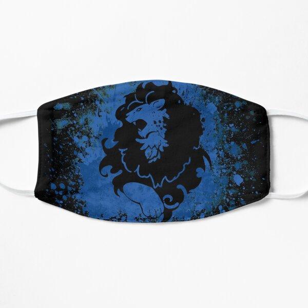 Blue Lion Splatter Mask