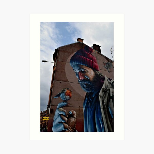 Glasgow Scotland St Mungo Street Art Terrace House Art Print
