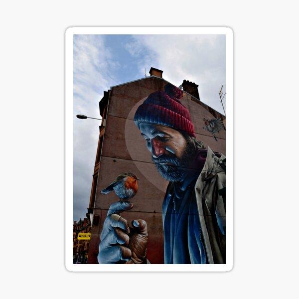 Glasgow Scotland St Mungo Street Art Terrace House Sticker