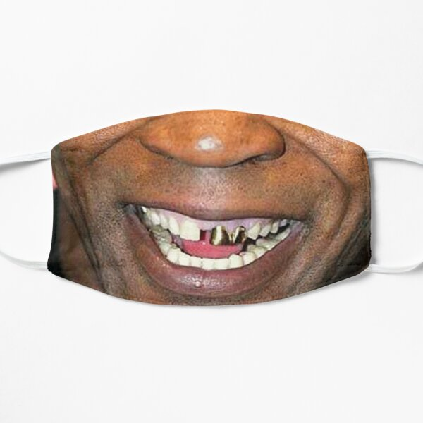MIKE TYSON - MOUTH and GRILL- FACE MASK Flat Mask