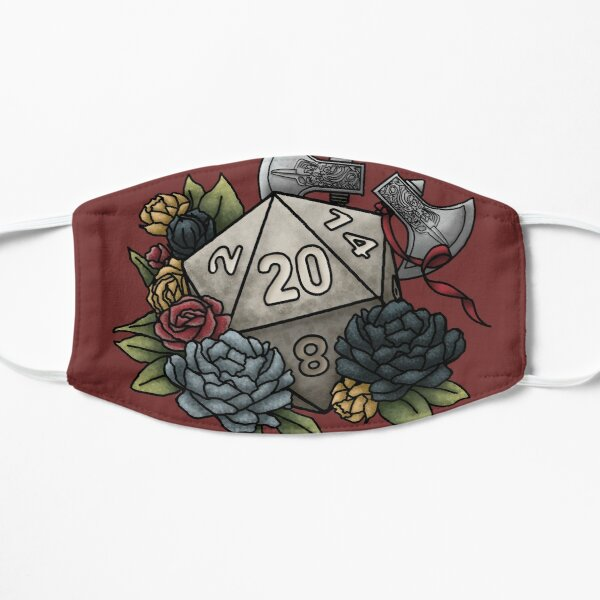 Barbarian Class D20 - Tabletop Gaming Dice Mask