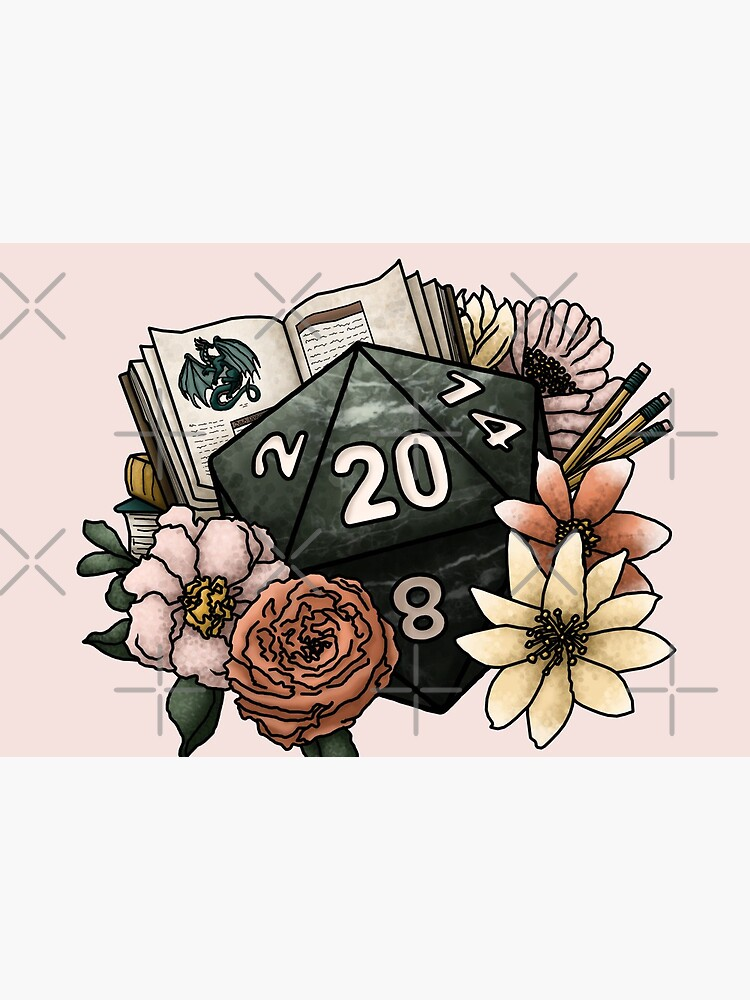 Dungeon Master D20 - Tabletop Gaming Dice by SweetDelilahs