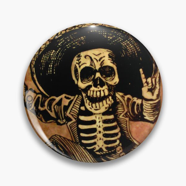 Posada Day of the Dead Outlaw Pin