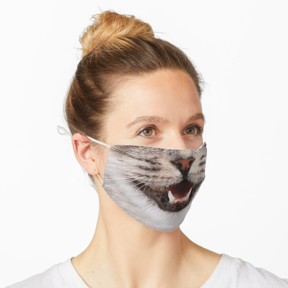 Cat Nose and Mouth ~ Cute and Funny Animal Medical Face Masks ~ 2 Mask