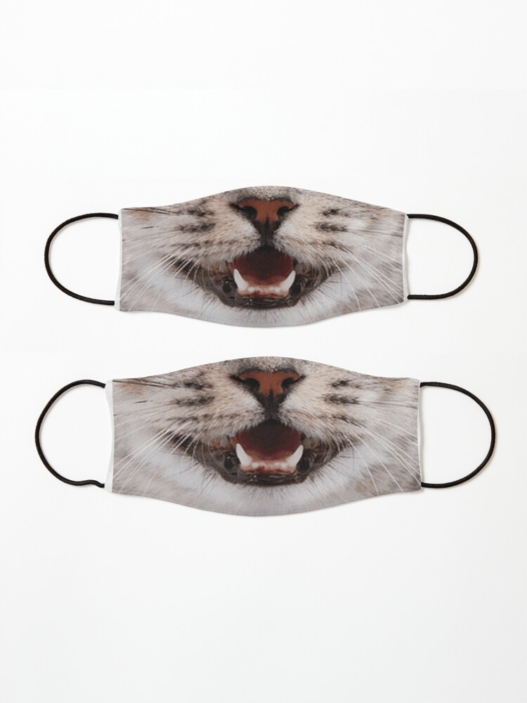Alternate view of Cat Nose and Mouth ~ Cute and Funny Animal Medical Face Masks ~ 2 Mask