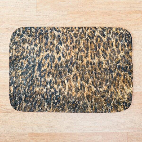 Leopard Cheetah Fur Wildlife Print Pattern Bath Mat