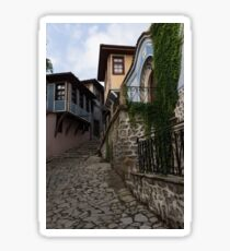 Steep and Twisting Cobblestone Street Sticker