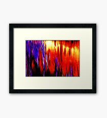 PURPLE RED Framed Print
