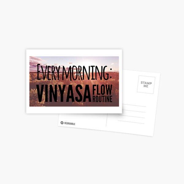Every morning: vinyasa flow routine Postcard
