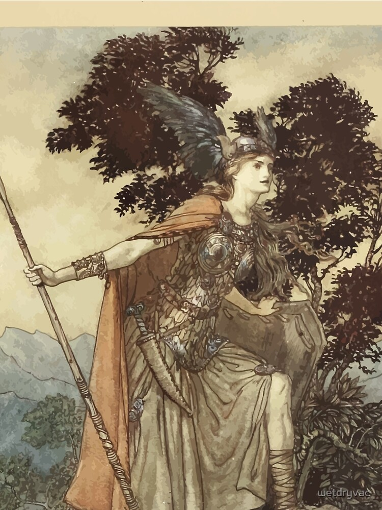 The Rhinegold & The Valkyrie by Richard Wagner art Arthur Rackham 1910 0209 Brunnhilde by wetdryvac