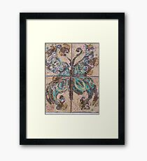 BUTTERFLY ~ 71 A NEW BORN EXTENDING IT WINGS Framed Print