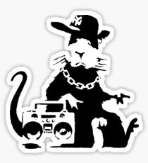 banksy - ghetto rat Sticker