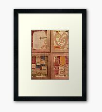 BACK OF CANVAS - BUTTERFLY ~ 1 HEARTS & FLOWERS Framed Print