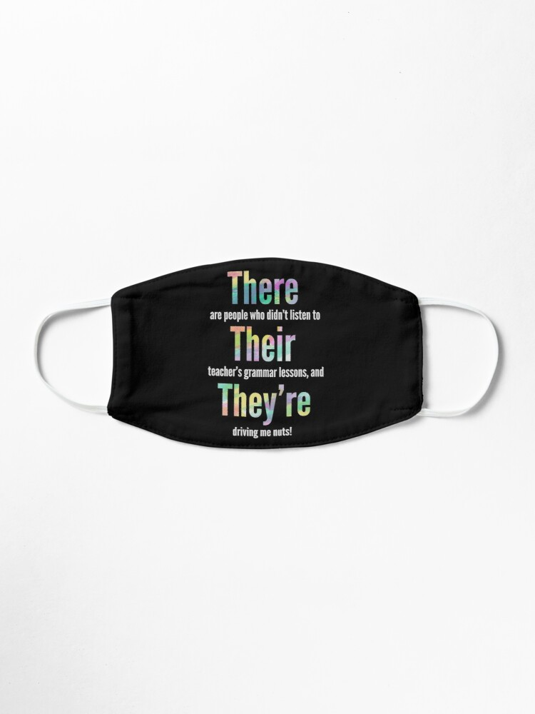 Alternate view of Grammar Police There Their They're Gift  Mask