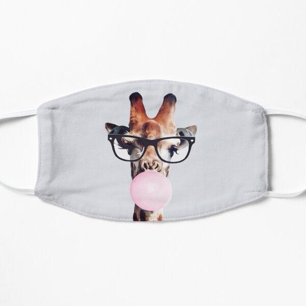 Giraffe Wearing Glasses & Blowing a Pink Bubblegum Mask