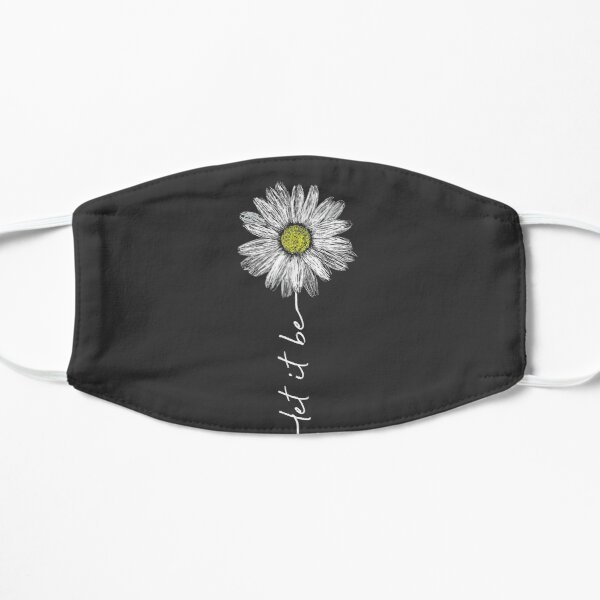 Let It Be Daisy Flower Vintage Graphic Flat Mask