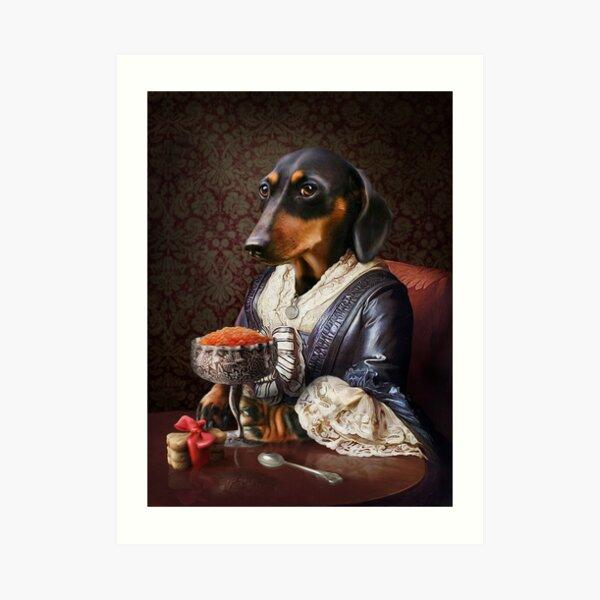 Daschund Portrait - Frankie Art Print