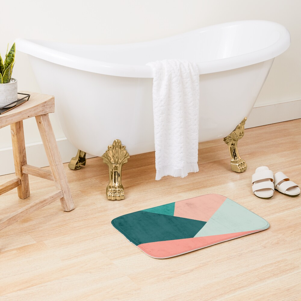 Elegant geometric pattern  Bath Mat