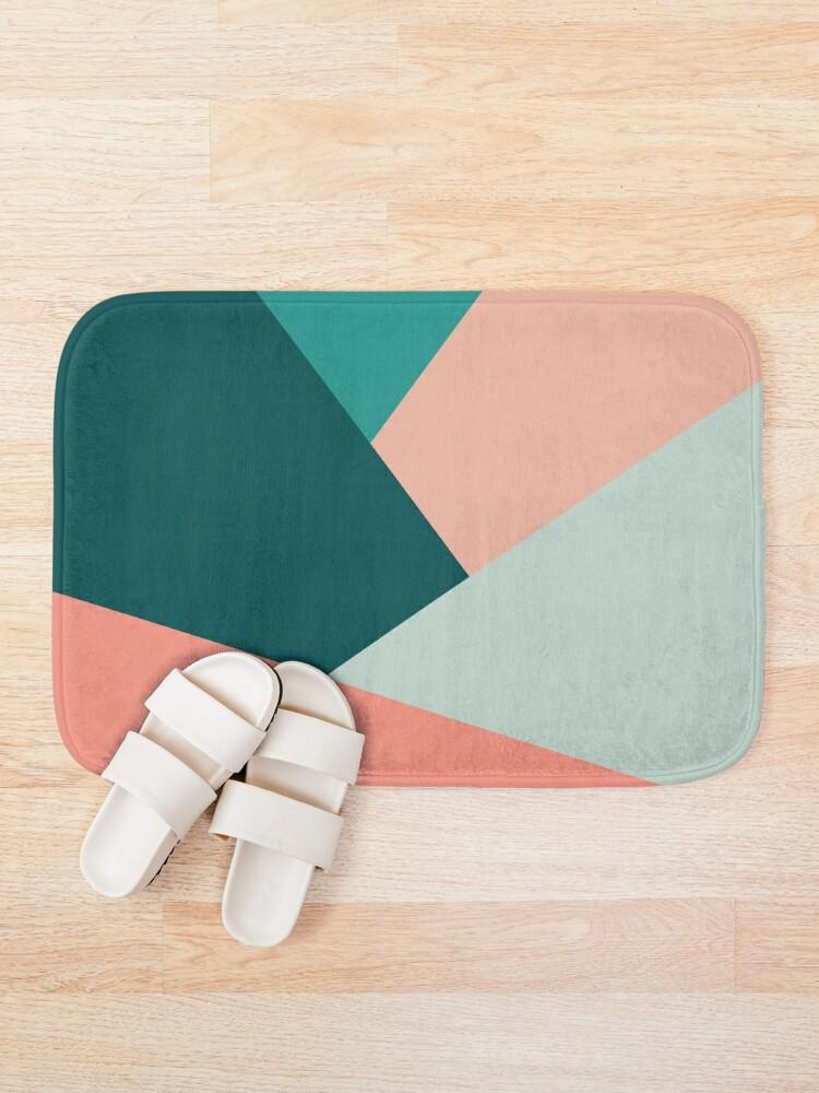 Alternate view of Elegant geometric pattern  Bath Mat