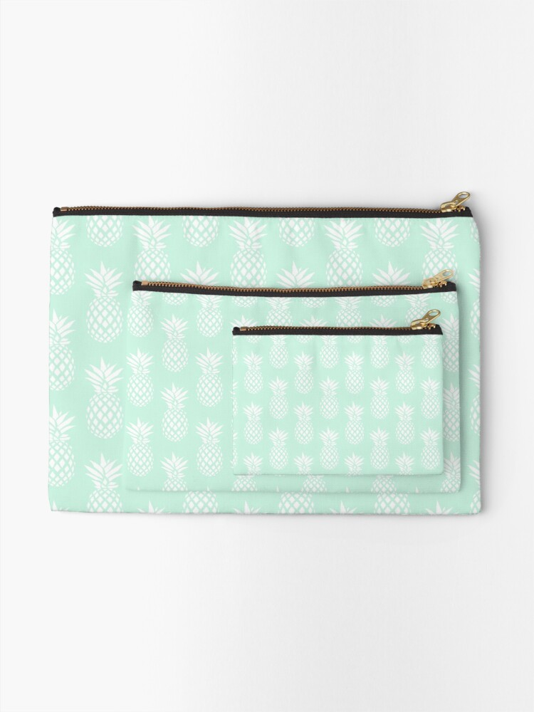 Alternate view of Cute & elegant pineapple pattern Zipper Pouch