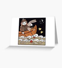Harriets Seafaring Hare Greeting Card