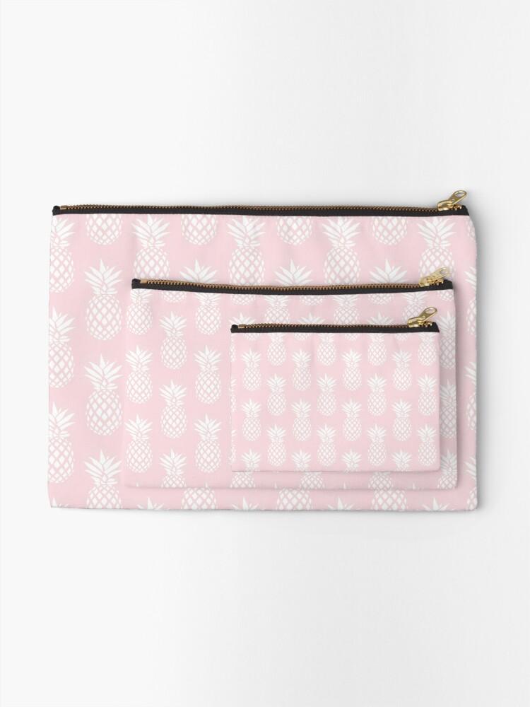 Alternate view of Cute & elegant pineapple pattern Zipper Pouch