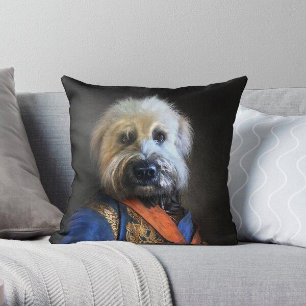 Dog Portrait - Oliver Throw Pillow