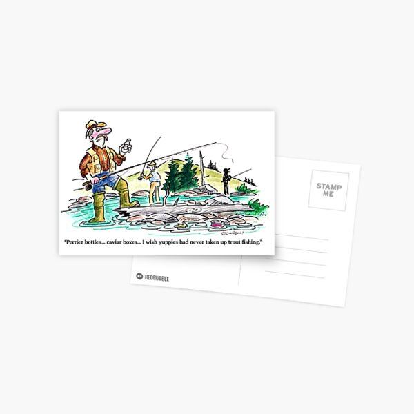 Full color cartoon Postcard