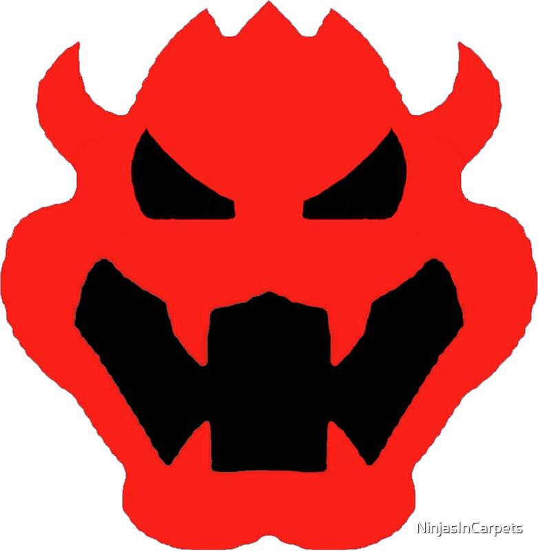Quot Super Mario Bowser Icon Quot Stickers By Ninjasincarpets