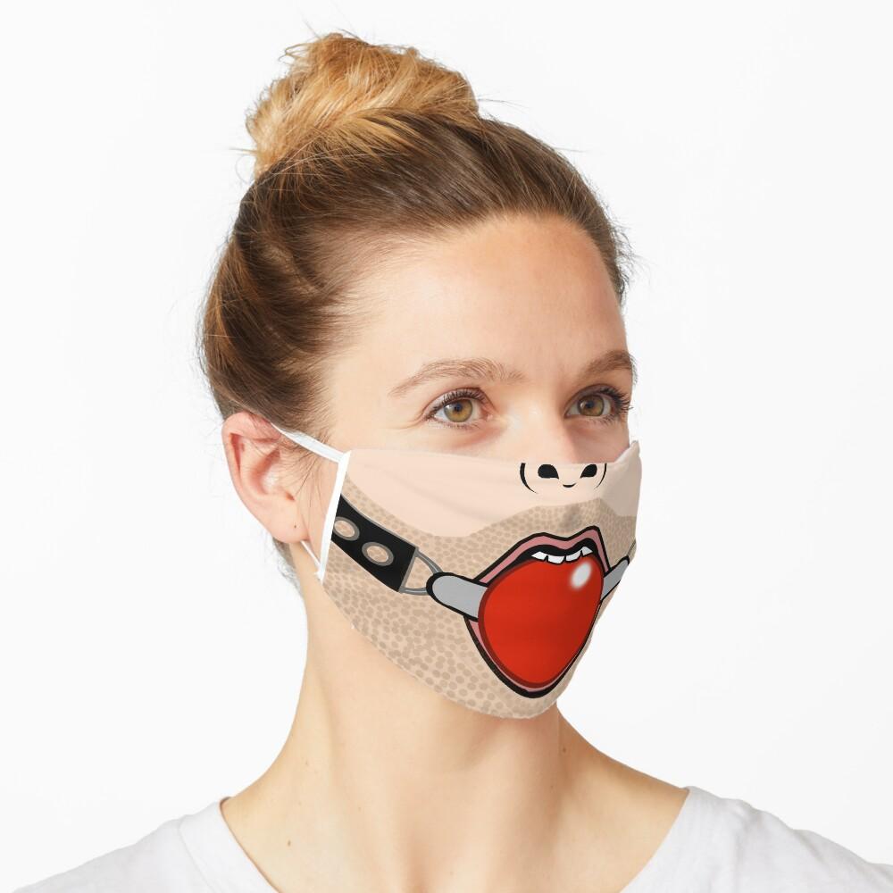 Ball Gag Face Mask Funny Gay BDSM Fetish Mask by