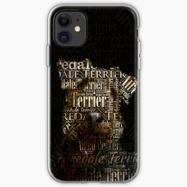 Airedale Terrier Word Art iPhone Soft Case