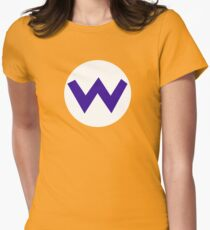 Super Mario Wario Icon Womens Fitted T-Shirt