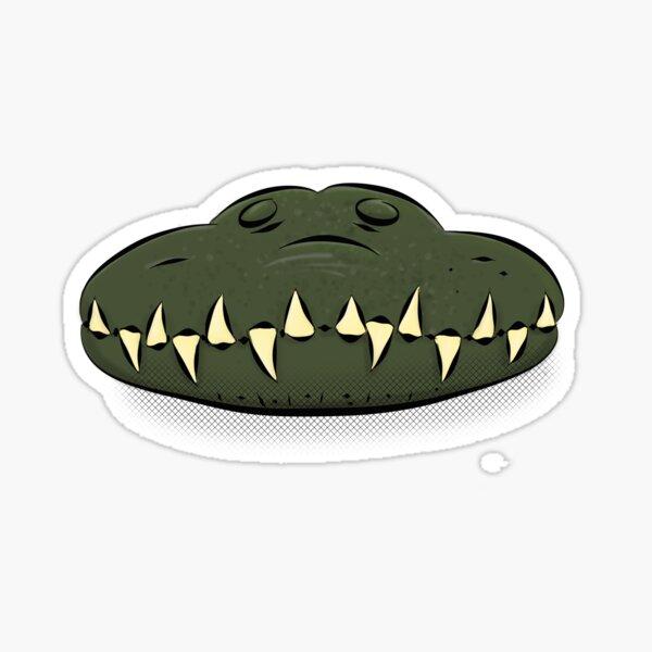Crocodile jaws cartoon illustration Sticker