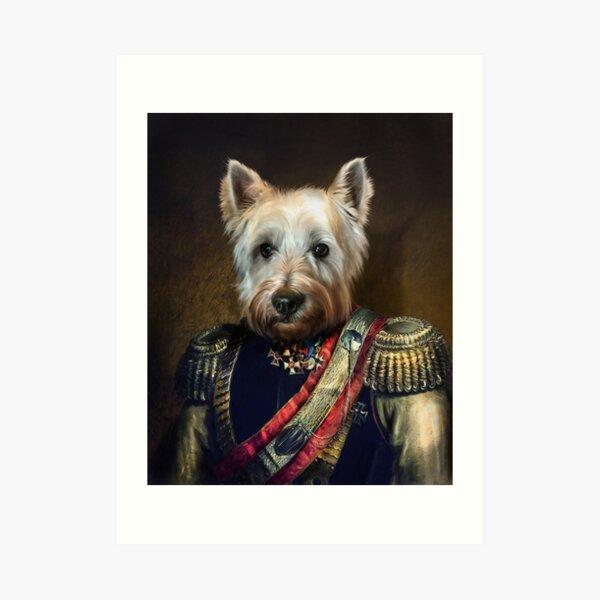 West Highland Dog Portrait - Meatball Art Print