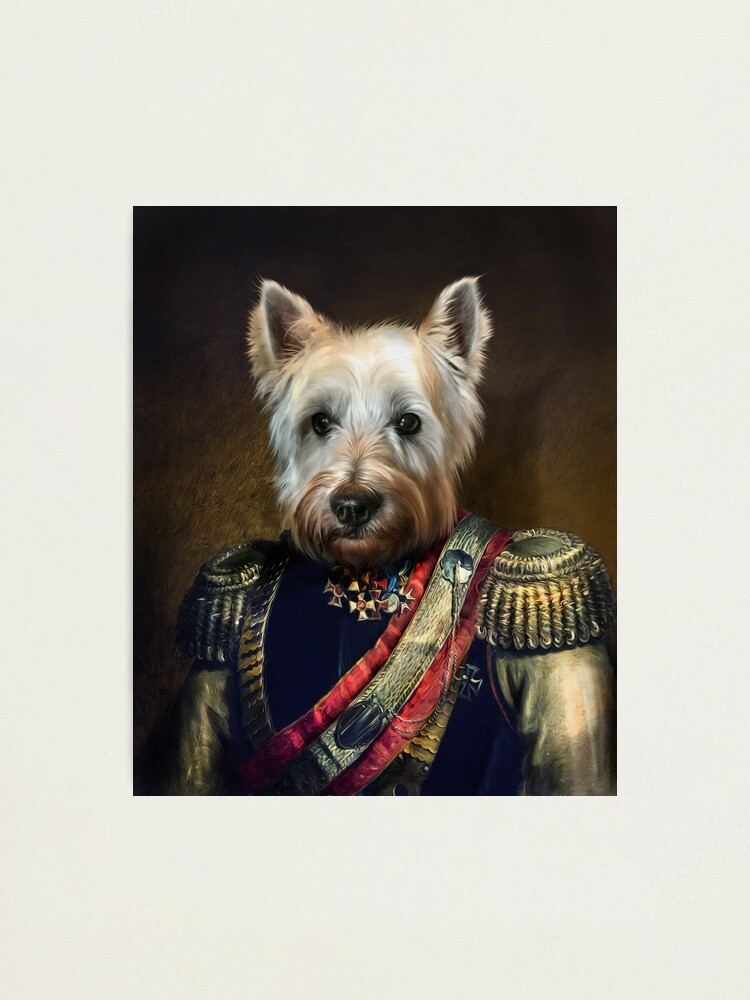 Alternate view of West Highland Dog Portrait - Meatball Photographic Print