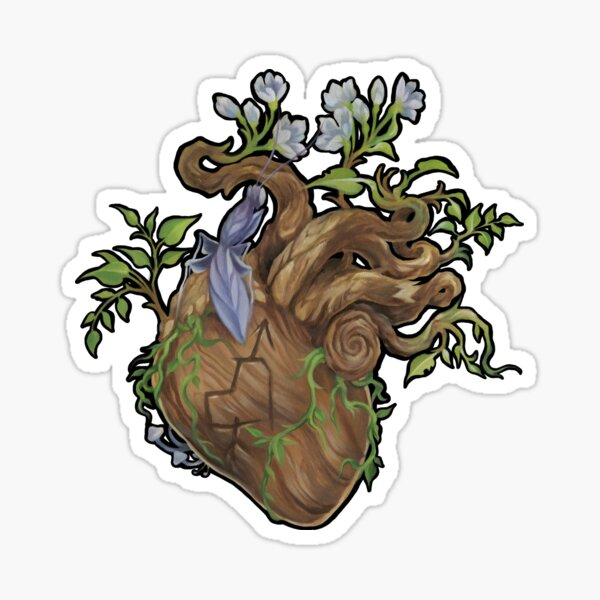 Heart - Wood Sticker