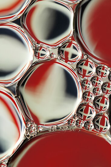 Patriotic Oil & Water Abstract by Sharon Johnstone